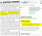 "A Justice Primer page 258 — ""poetic justice"""