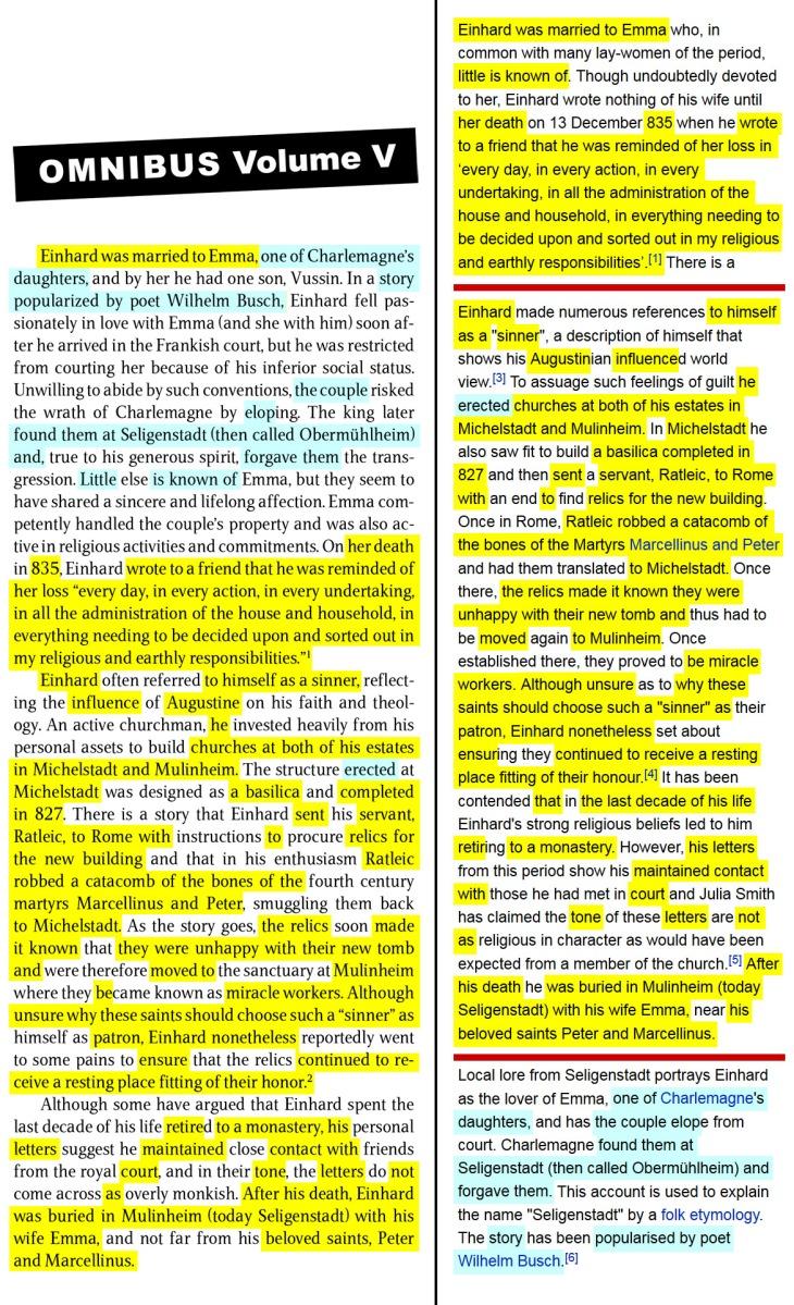 rule of augustine v einhards charlemagne